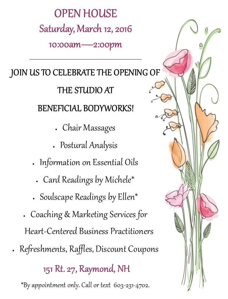Open House for The Studio at Beneficial Bodyworks