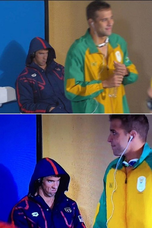 Michael Phelps and Chad le Cros ~ 2016 Olympic Games
