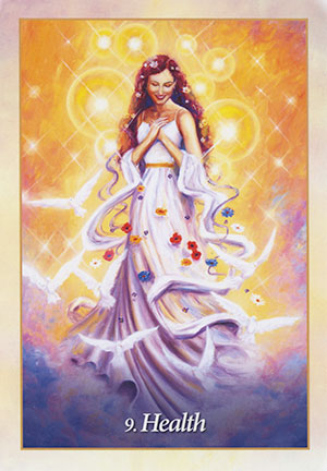 Health: Weekly Guidance for the week of September 12, 2016. | Card from Mario Duguay's Oracle of the Angels deck.