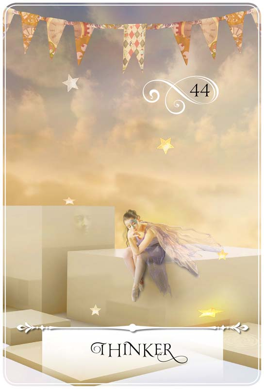 Thinker: Guidance for Week of September 19 - 25, 2016 ~ Card from Colette Baron-Reid's Wisdom of the Oracle deck
