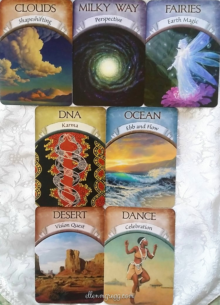 Focus cards drawn for A Week of Thanksgiving 2016. All cards are from the Earth Magic oracle deck by Steven D. Farmer.