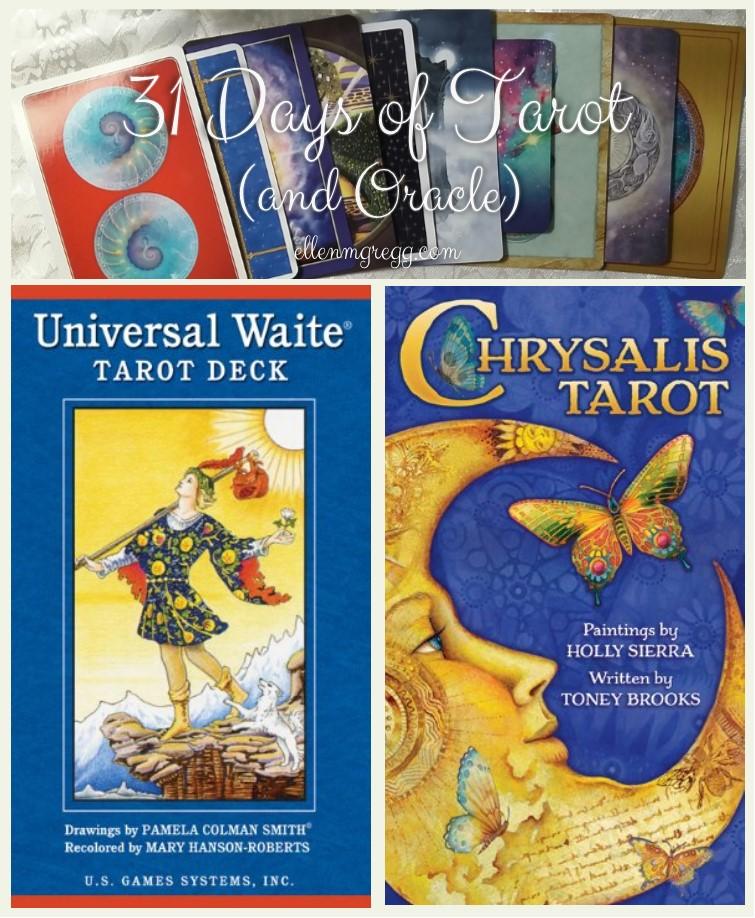 31 Days of Tarot, Day 13: Tarot Decks I'm Working With in 2017 (so far): Universal Waite Tarot and Chrysalis Tarot