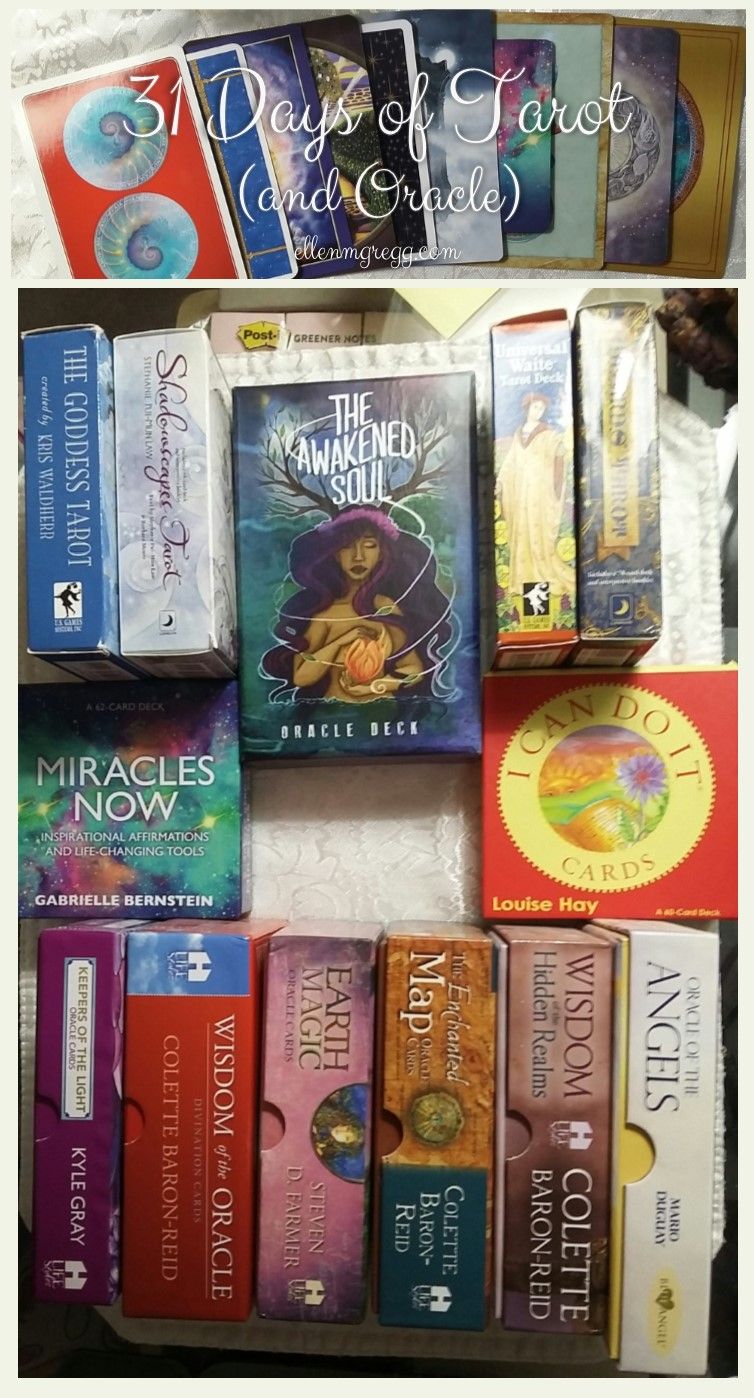 31 Days of Tarot, Day 18: How I pick oracle and Tarot cards for readings.