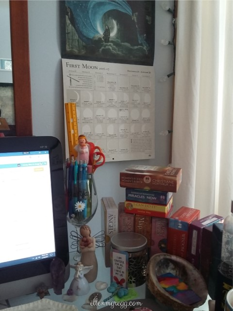 31 Days of Tarot, Day 31: The right side of my workspace.