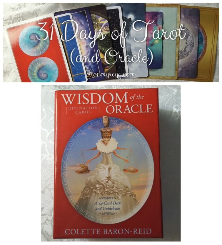 31 Days of Tarot, Day 8: Most-Worked Deck of 2016: Wisdom of the Oracle by Colette Baron-Reid