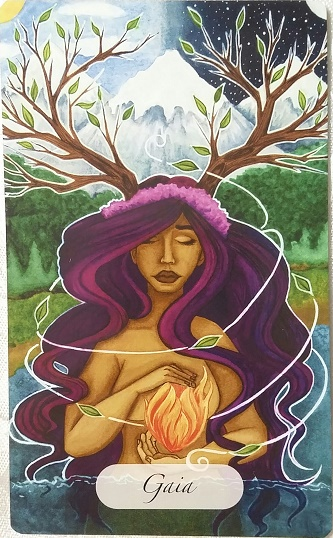 Gaia from The Awakened Soul oracle deck represents another sub-theme for 2017.