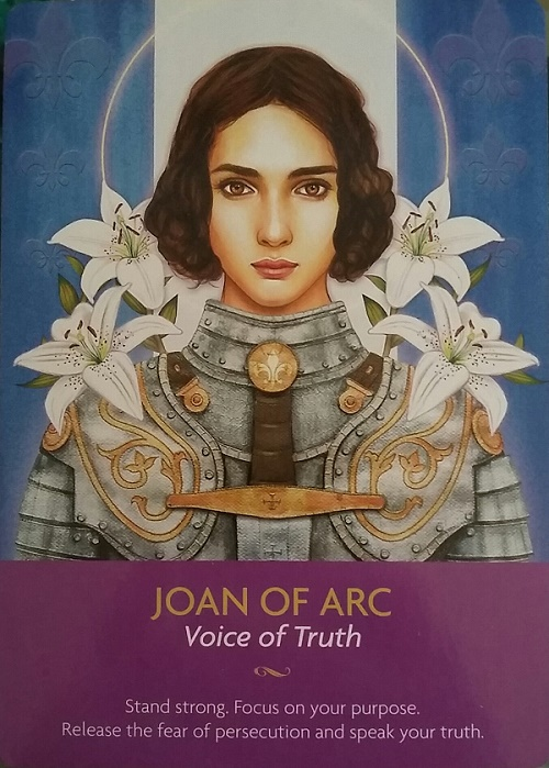 Joan of Arc: Voice of Truth ~ Keepers of the Light Oracle deck by Kyle Gray
