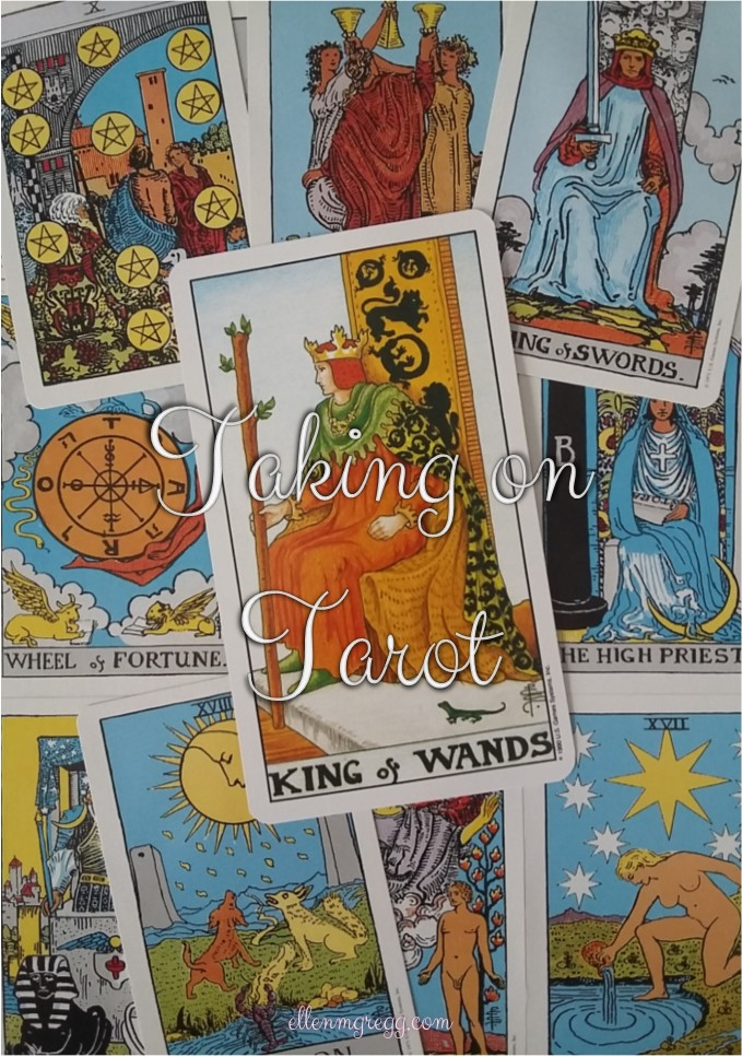 Taking On Tarot: King of Wands ~ Continuing my self-study of the Universal Waite Tarot deck.
