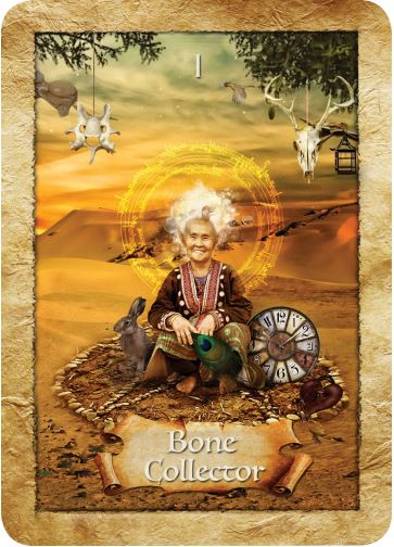 Bone Collector from Colette Baron-Reid's The Enchanted Map oracle cards deck, published by Hay House.