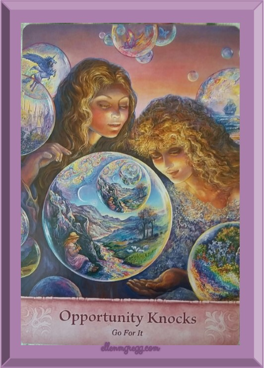 Daily Oracle: March 9, 2017 ~ Opportunity Knocks ~ Today's card is from the Mystical Wisdom oracle deck by Gaye Guthrie with art by Josephine Wall