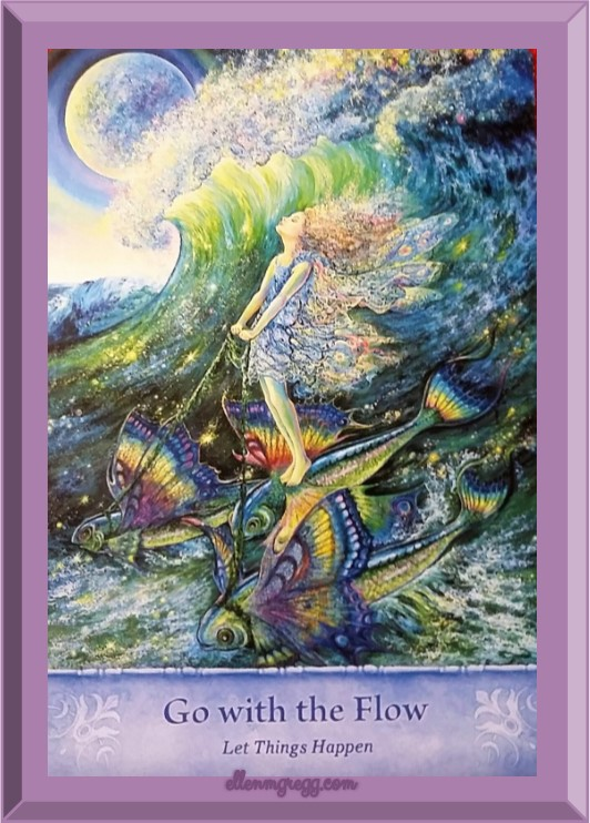 Daily Oracle: March 10, 2017 ~ Go with the Flow ~ This card comes from the Mystical Wisdom card deck by Gaye Guthrie, with art by Josephine Wall.