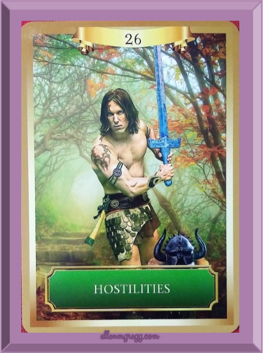 Daily Oracle: March 14, 2017 ~ Hostilities from the Energy Oracle Cards deck by Sandra Anne Taylor