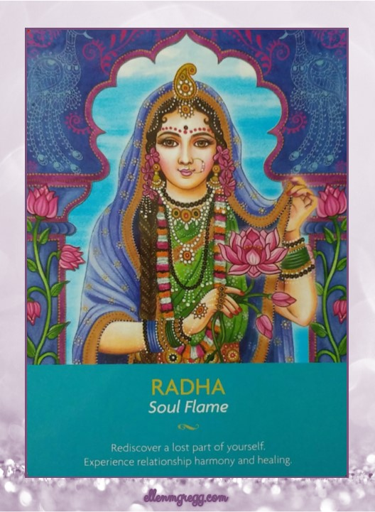 Daily Oracle: March 15, 2017 ~ Radha: Soul Flame ~ This card is from Kyle Gray's Keepers of the Light oracle deck by Hay House.