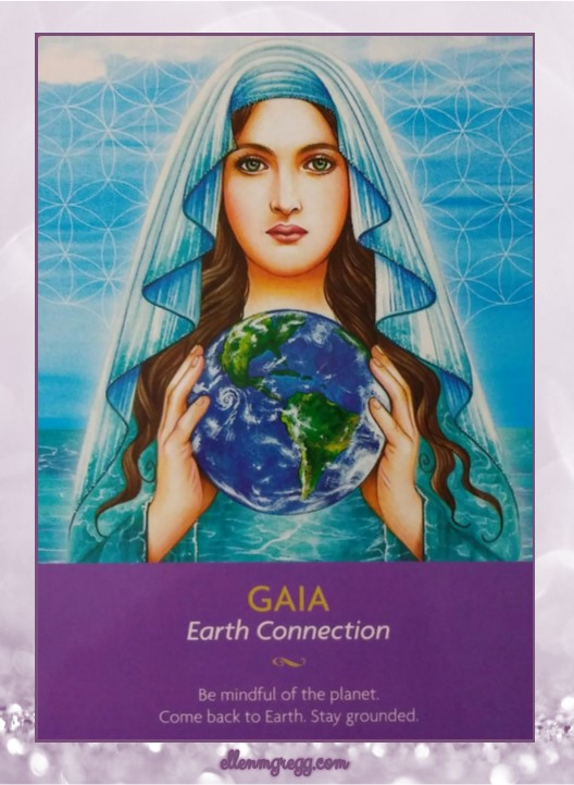 Daily Oracle: March 17, 2017 ~ Gaia: Earth Connection ~ Card from Kyle Gray's Keepers of the Light oracle deck by Hay House.