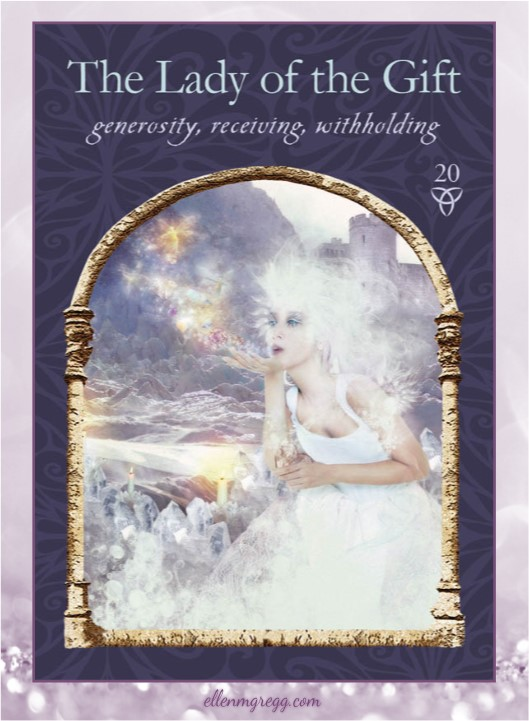 Daily Oracle: March 21, 2017 ~ The Lady of the Gift ~ Card from Wisdom of the Hidden Realms by Colette Baron-Reid, published by Hay House.