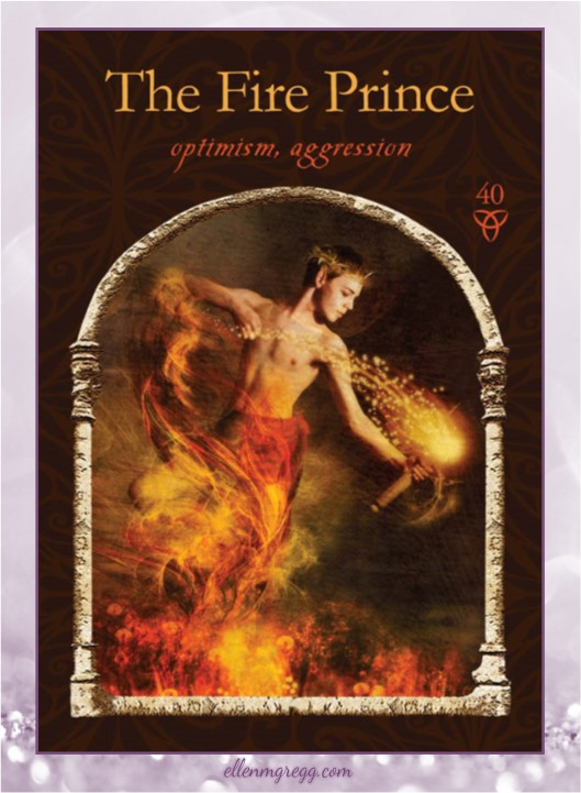 Daily Oracle: March 23, 2017 ~ The Fire Prince ~ Card from Colette Baron-Reid's Wisdom of the Hidden Realms, published by Hay House.