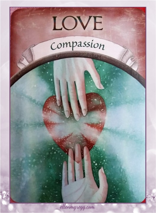 Daily Oracle: March 25, 2017 ~ Love: Compassion ~ Card from Steven D. Farmer's Earth Magic deck, published by Hay House.