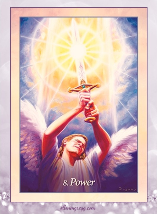 Daily Oracle: March 26, 2017 ~ Power ~ Card from Oracle of the Angels deck by Mario Duguay, published by Blue Angel.