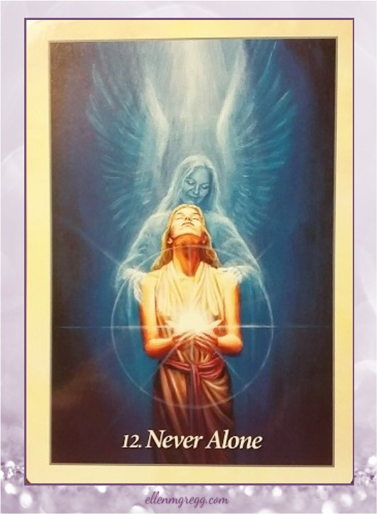 Daily Oracle: March 27, 2017 ~ Never Alone ~ Card from Oracle of the Angels deck by Mario Duguay, published by Blue Angel.