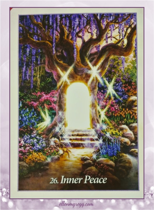 Daily Oracle: March 28, 2017 ~ Inner Peace ~ Card from Oracle of the Angels deck by Mario Duguay, published by Blue Angel.