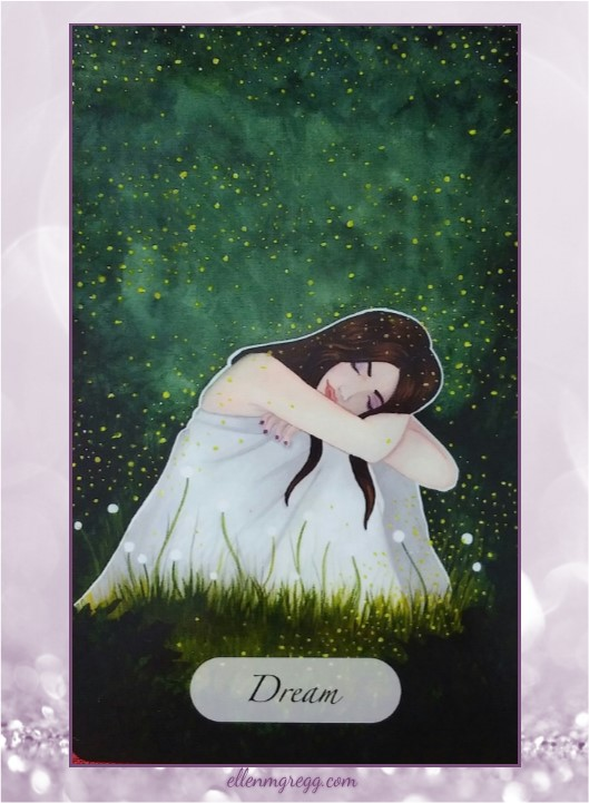 Daily Oracle: March 31, 2017 ~ Dream ~ Card from The Awakened Soul Oracle by Ethony Dawn, published by Ethony Dawn.