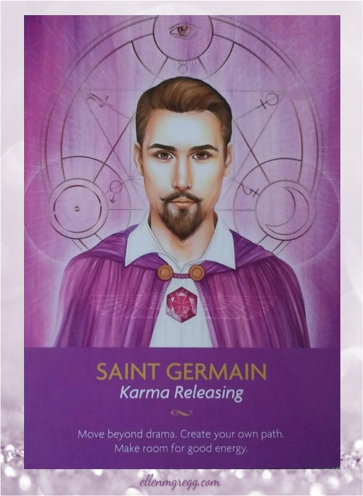 Daily Oracle: 3 April, 2017 ~ Saint Germain from Kyle Gray's Keepers of the Light Oracle Cards, published by Hay House.
