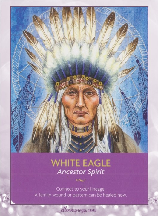 Daily Oracle: 4 April, 2017 ~ White Eagle from Kyle Gray's Keepers of the Light Oracle Cards, published by Hay House.