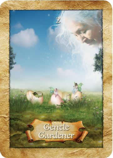 Gentle Gardner from The Enchanted Map oracle deck ~ Interviewing The Enchanted Map oracle deck is a post by Ellen M. Gregg :: Intuitive