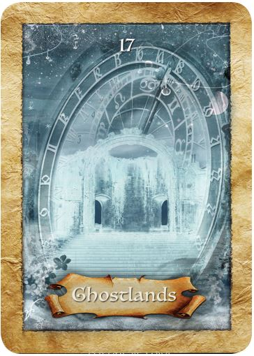 Ghostlands from Colette Baron-Reid's The Enchanted Map oracle cards deck, published by Hay House.
