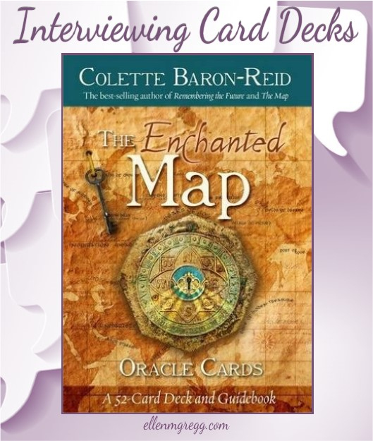 Interviewing Colette Baron-Reid's The Enchanted Map oracle cards deck, published by Hay House.