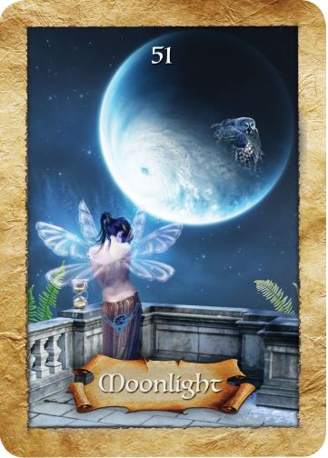 Moonlight from Colette Baron-Reid's The Enchanted Map oracle cards deck, published by Hay House.