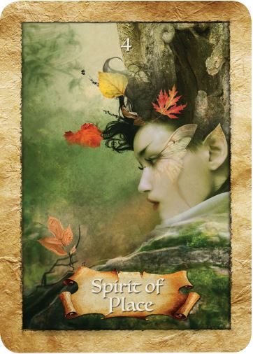 Spirit of Place from Colette Baron-Reid's The Enchanted Map oracle cards deck, published by Hay House.
