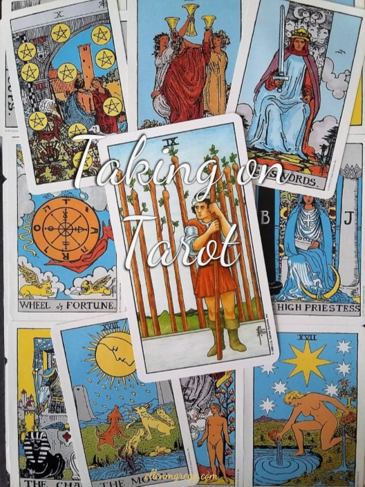 Taking On Tarot: Nine of Wands ~ A self-study of the Universal Waite Tarot deck, published by U.S. Games Systems, Inc.