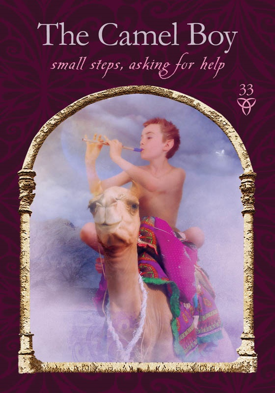The Camel Boy from Wisdom of the Hidden Realms oracle cards by Colette Baron-Reid, published by Hay House.