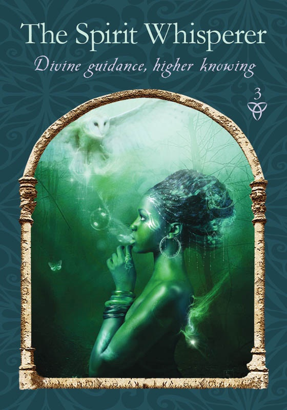 The Spirit Whisperer from Wisdom of the Hidden Realms oracle deck by Colette Baron-Reid, published by Hay House.