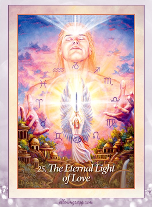 Daily Divination: 14 April, 2017 ~ The Eternal Light of Love from Mario Duguay's Oracle of the Angels deck, published by Blue Angel.