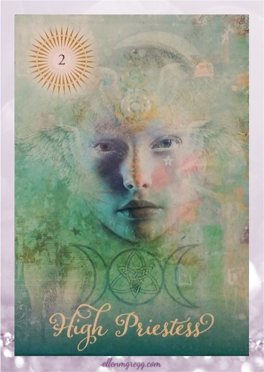 Daily Divination: 23 April, 2017 ~ High Priestess from The Good Tarot, created by Colette Baron-Reid, illustrated by Jena DellaGrottaglia, published by Hay House Lifestyles.