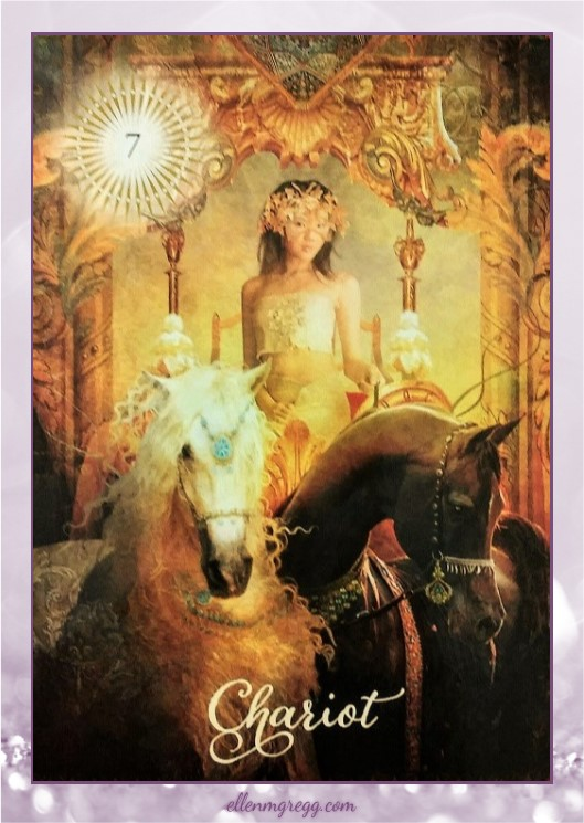 Daily Divination: 24 April, 2017 ~ Chariot from The Good Tarot, created by Colette Baron-Reid, illustrated by Jena DellaGrottaglia, published by Hay House Lifestyles