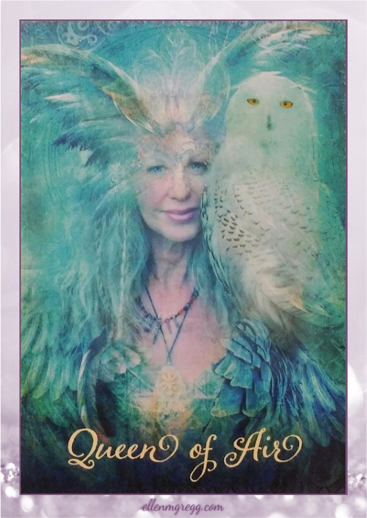 Daily Divination: 25 April, 2017 ~ Queen of Air from The Good Tarot, created by Colette Baron-Reid, illustrated by Jena DellaGrottaglia, published by Hay House Lifestyles