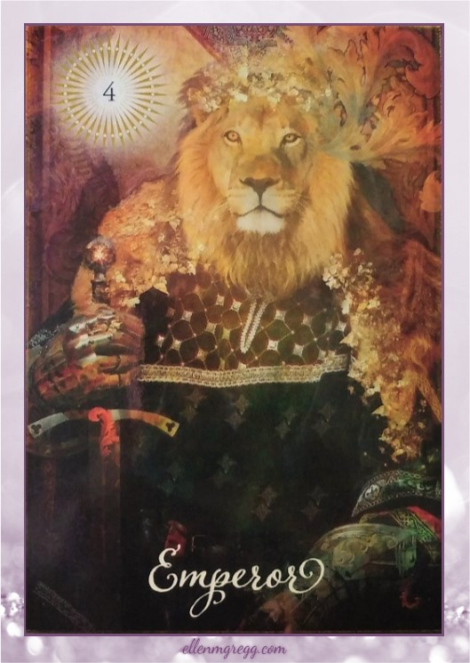 Daily Divination: 26 April, 2017 ~ Emperor from The Good Tarot, created by Colette Baron-Reid, illustrated by Jena DellaGrottaglia, published by Hay House Lifestyles