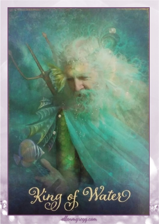 Daily Divination: 27 April, 2017 ~ King of Water from The Good Tarot, created by Colette Baron-Reid, illustrated by Jena DellaGrottaglia, published by Hay House Lifestyles.