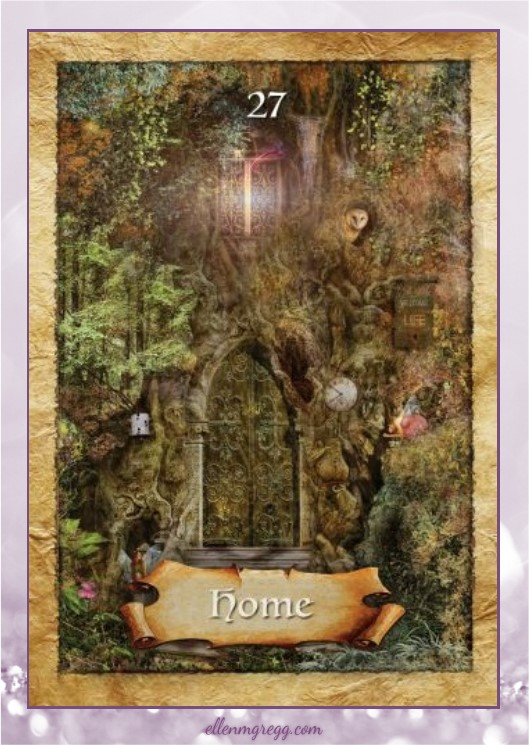 Daily Divination: 28 April, 2017 ~ Home from The Enchanted Map oracle cards, created by Colette Baron-Reid, illustrated by Jena DellaGrottaglia, published by Hay House Lifestyles.