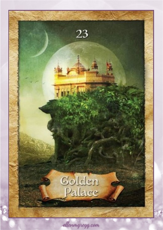 Daily Divination: 30 April, 2017 ~ Golden Palace from The Enchanted Map oracle cards, created by Colette Baron-Reid, illustrated by Jena DellaGrottaglia, published by Hay House Lifestyles.