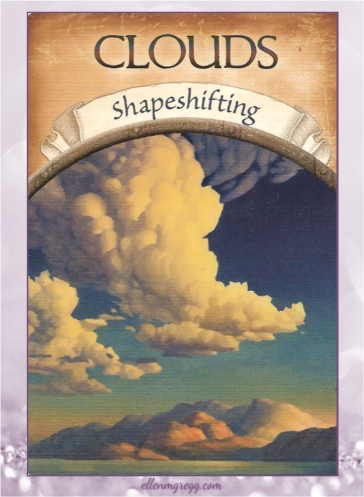 Daily Divination: 8 April, 2017 ~ Clouds from Steven D. Farmer's Earth Magic oracle cards, published by Hay House Lifestyles.