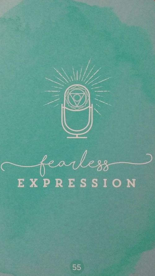 Fearless Expression ~ Sacred Creators Oracle, created and published by Chris-Anne.