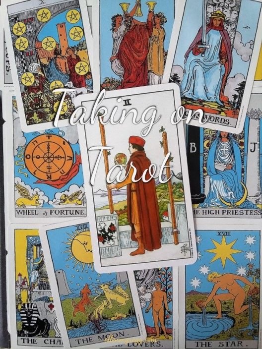 Taking on Tarot: Two of Wands ~ A self-study of the Universal Waite Tarot deck, published by U.S. Games Systems, Inc.