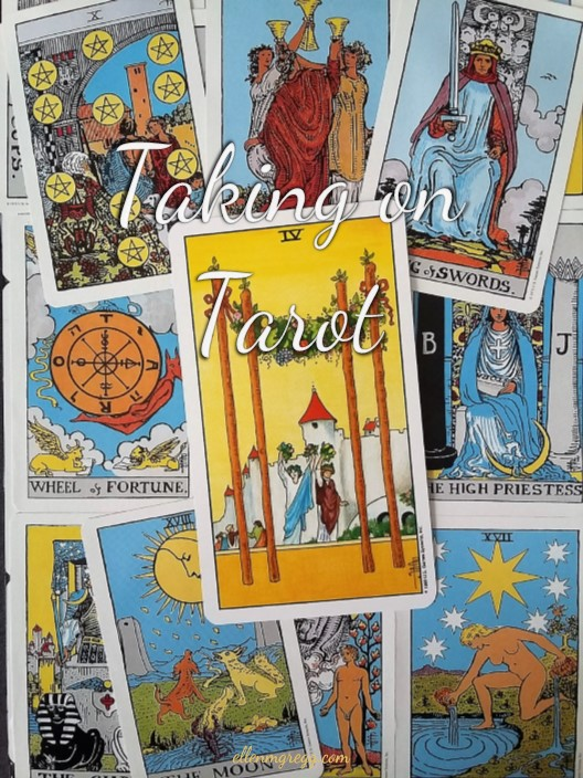 Taking On Tarot: Four of Wands ~ A self-study of the Universal Waite Tarot deck, published by U.S. Games Systems, Inc.
