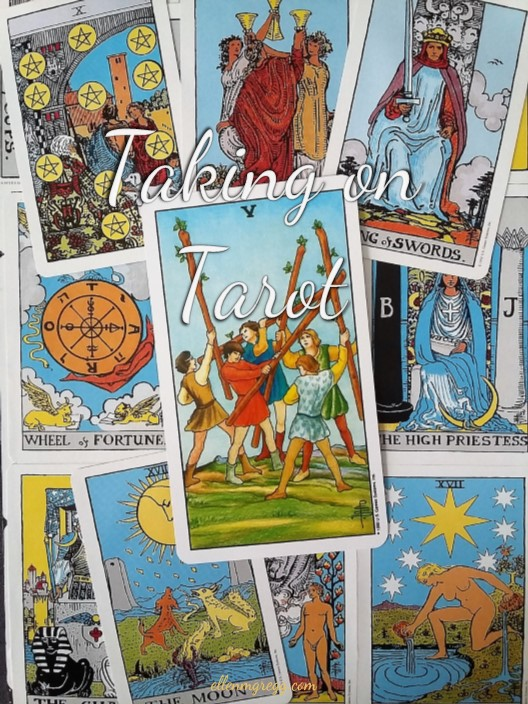 Taking On Tarot: Five of Wands ~ A self-study of the Universal Waite Tarot deck, published by U.S. Games Systems, Inc.