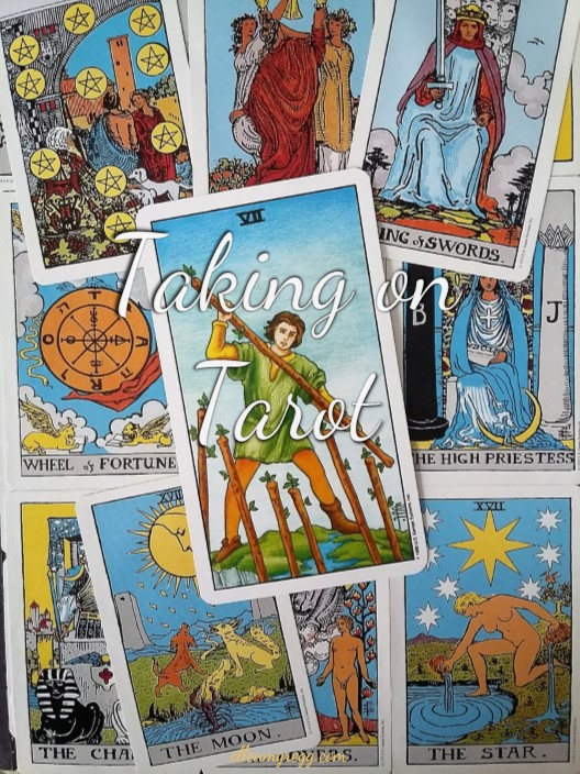 Taking On Tarot: Seven of Wands ~ A self-study of the Universal Waite Tarot deck.