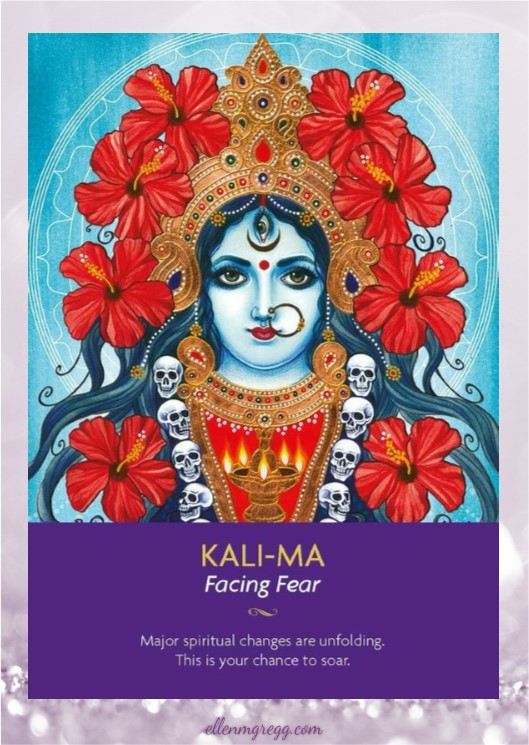 Daily Divination: 11 May, 2017 ~ Kali-Ma from Keepers of the Light oracle cards, created by Kyle Gray, art by Lily Moses, published by Hay House Lifestyles.